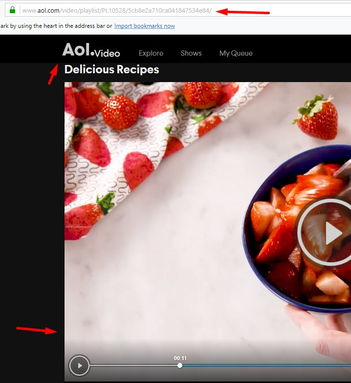 Convert and download from AOL valid link.