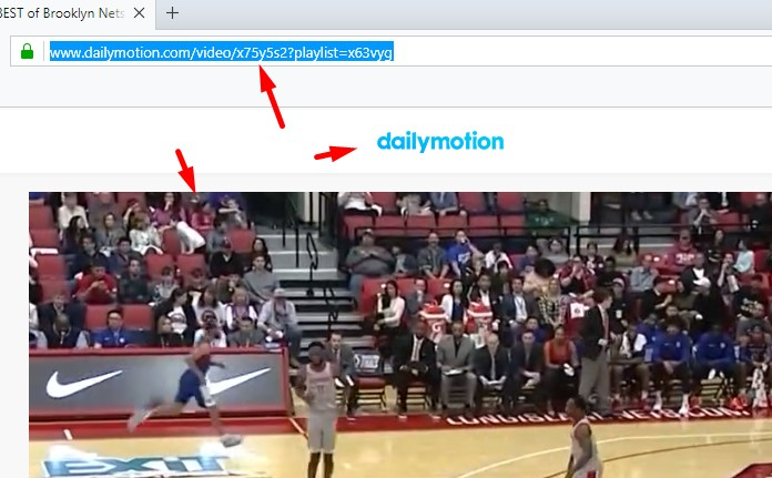 Convert and download from Dailymotion valid link.