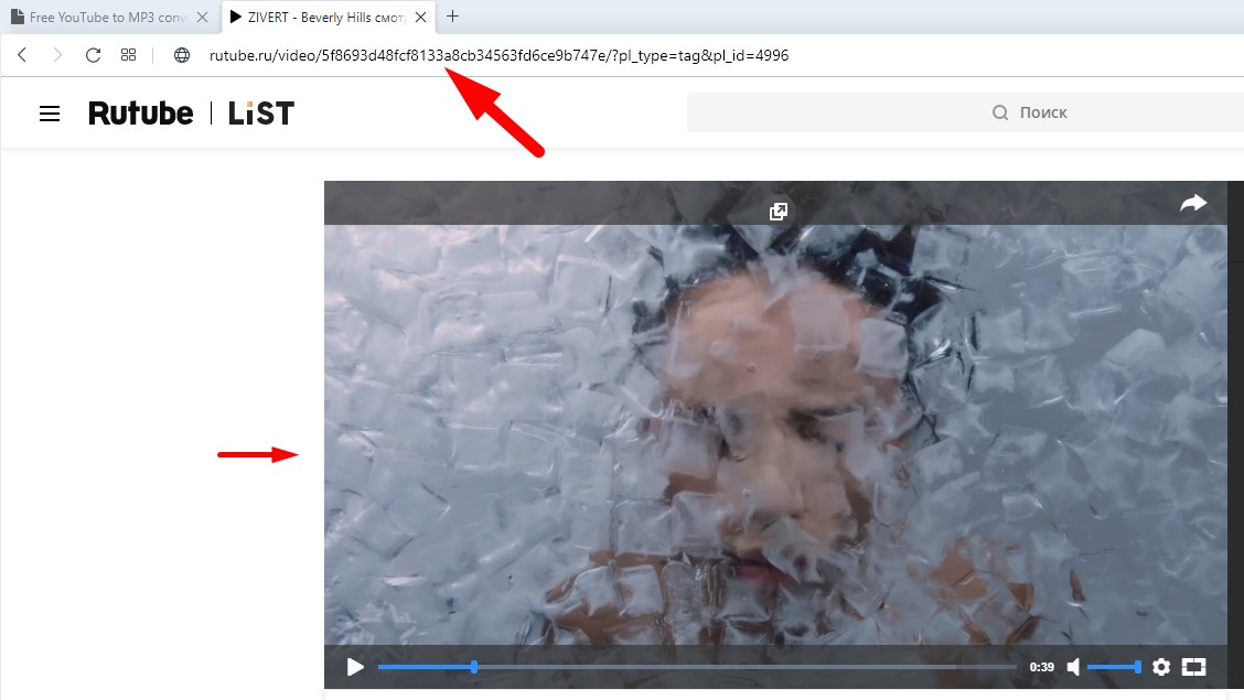 Convert and download from Rutube valid link.